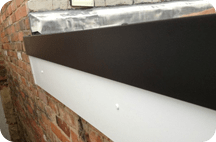 Gutter and fascias for flat roofs