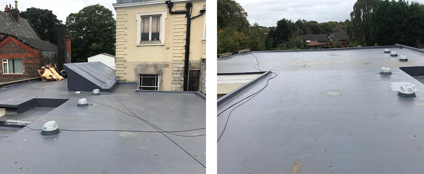 Felt Roofing Project in Liverpool