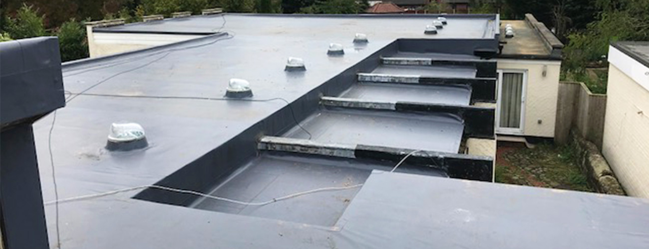 Slate Grey Felt Roof - Just Flat Roofing