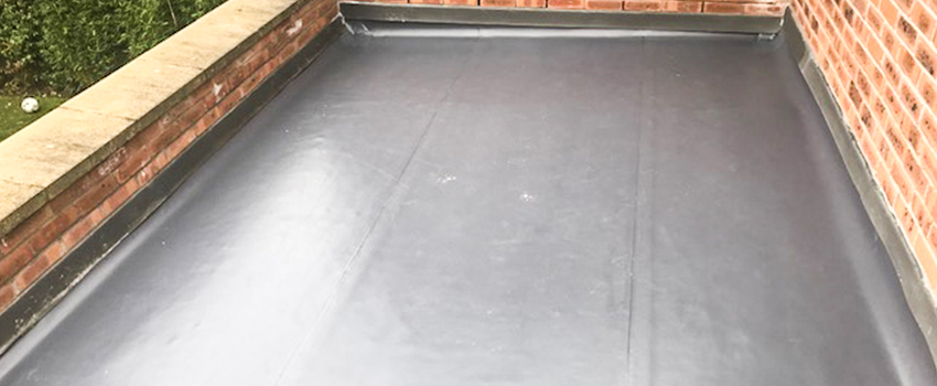 finished domestic flat roof installation