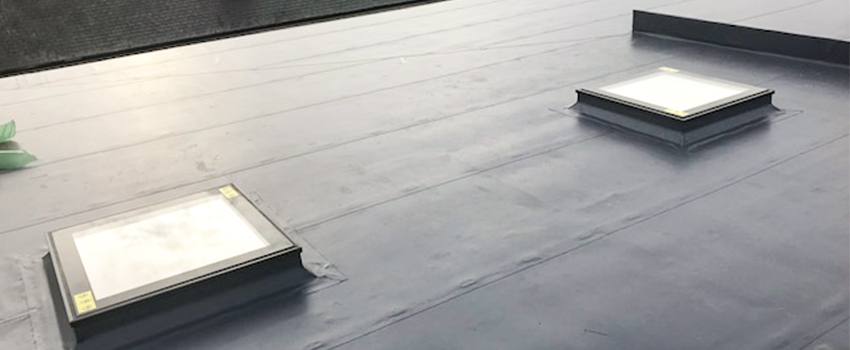 flat roof finished product