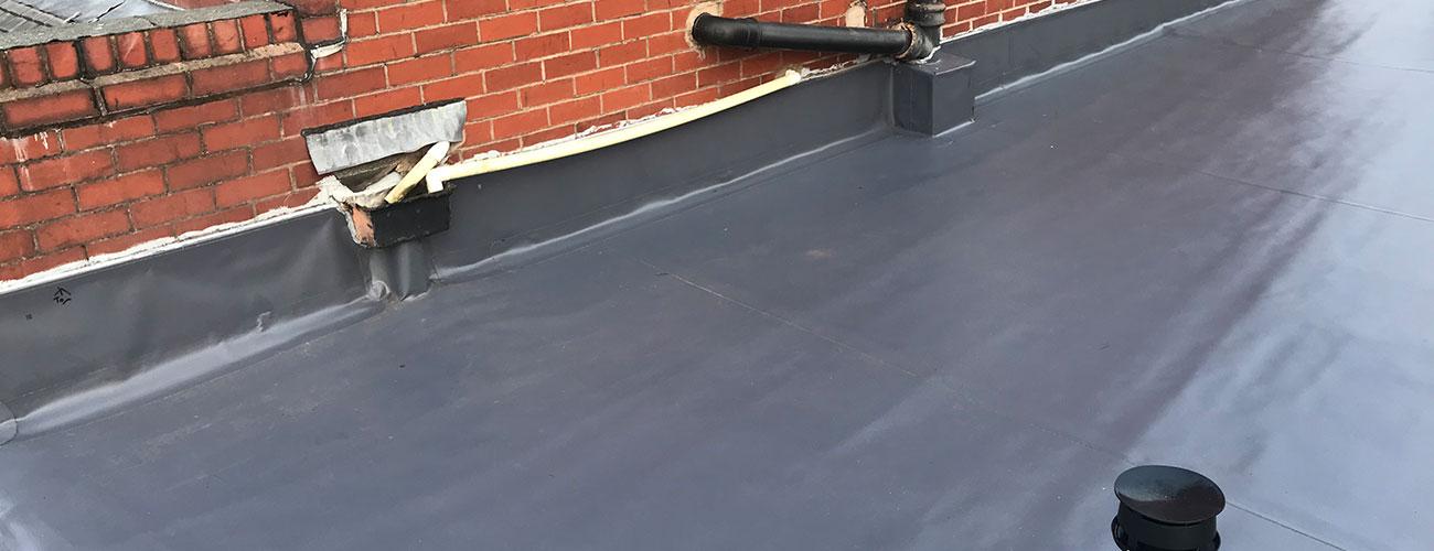 PVC membrane flat roof