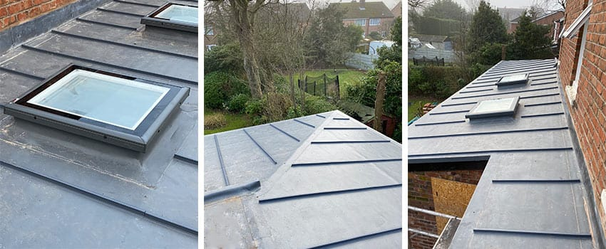 completed construction of new flat roof